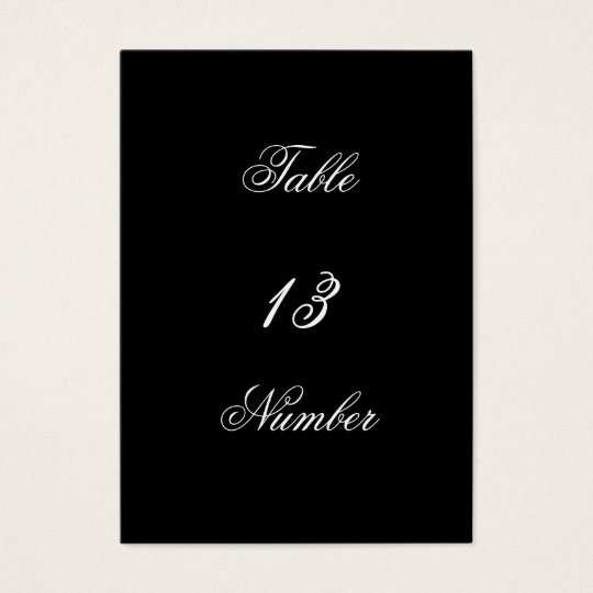 Gothic Castle Wedding Table Number Business Card