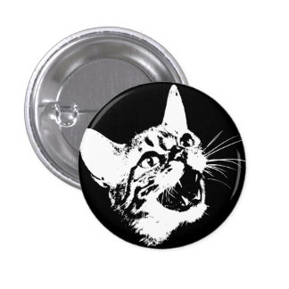 Gothic Cat Feral Evil Scary Growl Fangs Pins