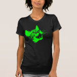 Gothic Cat Feral Evil Scary Growl Fangs T Shirts