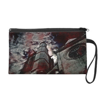Gothic cathedral altered photo wristlet
