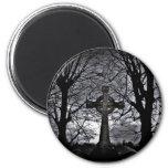 Gothic celtic cross grave fridge magnets