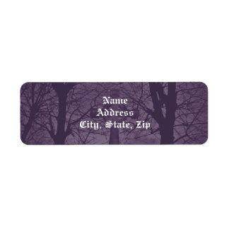 Gothic celtic cross tombstone dark and spooky label