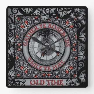 Gothic Celtic Impermanence Square Wall Clock