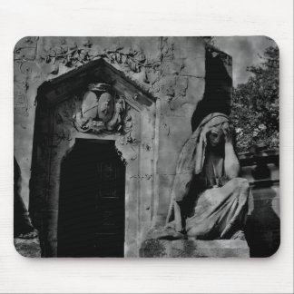 Gothic cemetery beautiful tomb with mourner mouse pad