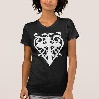 Gothic cemetery celtic cross heart in white T-Shirt