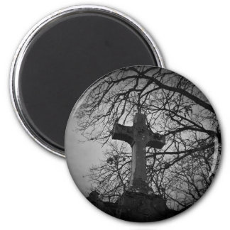Gothic cemetery cross tombstone magnet
