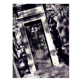 Gothic cemetery Graveyard Greetings Postcard