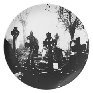 Gothic Cemetery Graveyard plate