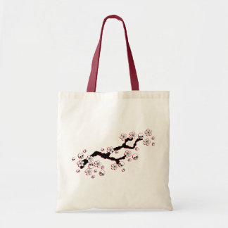 Gothic Cherry Blossoms Tote Bags