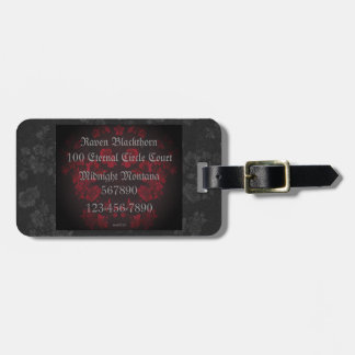 Gothic Cherry Blossoms Tag For Luggage