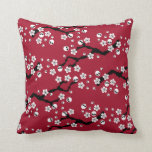 Gothic Cherry Blossoms Throw Pillow