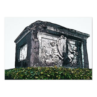Gothic Cherub Tomb Stone Card