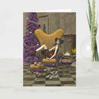 Gothic Christmas Card -