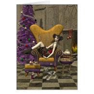 Gothic Christmas Card -