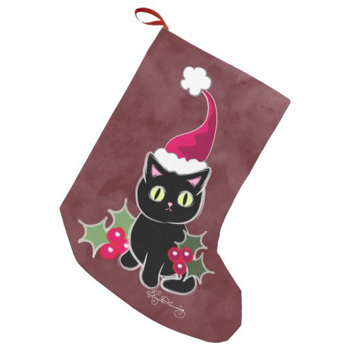 Gothic Christmas Cat Red Small...