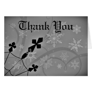 Gothic Christmas crosses Thank you Card