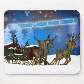 Gothic Christmas Mousepad, H.I.P. And Reindeer Mouse Pad