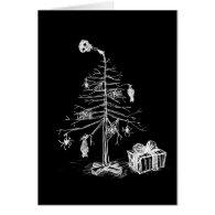 Gothic Christmas Tree Card