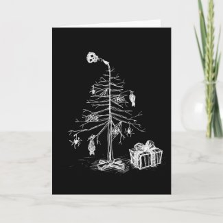 Gothic Christmas Tree Holiday Card