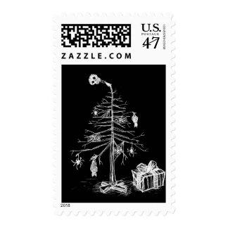 Gothic Christmas Tree Postage Stamp