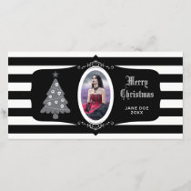 Gothic Christmas Tree With Cameo Photo Card