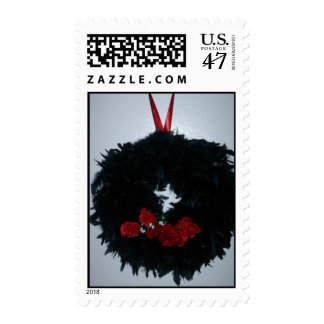 Gothic Christmas Wreath Stamp