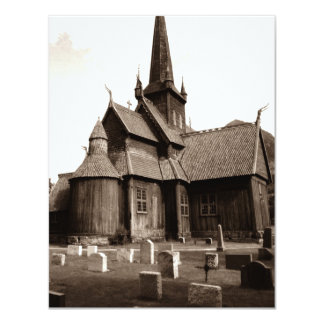 GOTHIC CHURCH BUILDING SPIRES PARTY INVITATION