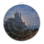 Gothic Church on a Rock by the Sea by K. Schinkel Dartboard With Darts