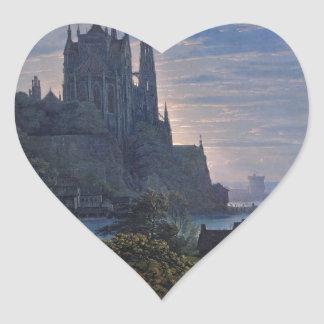 Gothic Church on a Rock by the Sea by K. Schinkel Sticker
