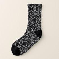 Gothic church window pattern socks
