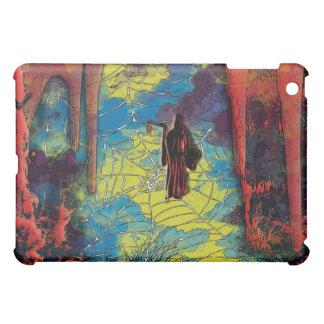 Gothic comic art grim reaper cave red blue iPad mini case