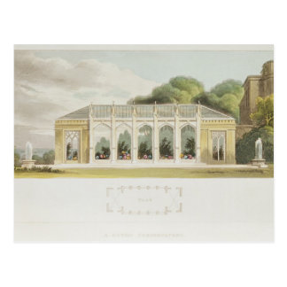 Gothic Conservatory, 1832 Postcard