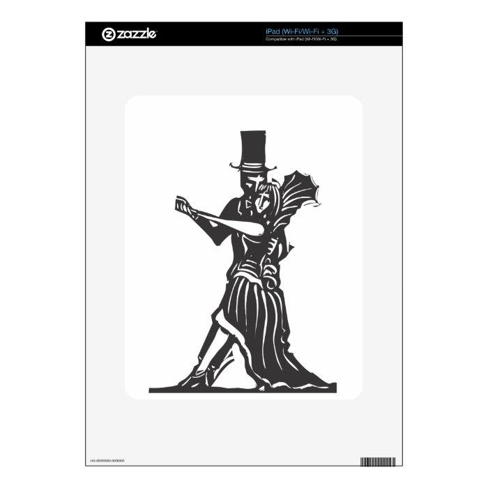 Gothic Couple Dancing iPad Skins