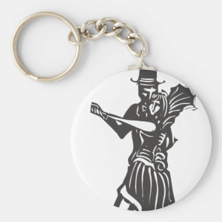 Gothic Couple Dancing Keychain