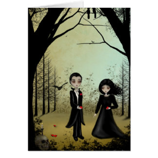 Gothic Couple Greeting Card
