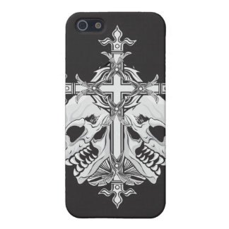 Gothic Cross and Skulls Case For iPhone SE/5/5s