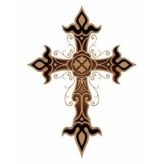 Gothic Cross (brown) shirt