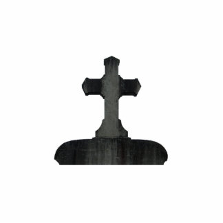 Gothic cross tombstone cutout