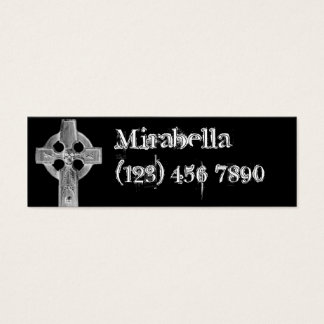 Gothic Cross Tombstone Skinny Profile Card