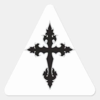 gothic cross triangle sticker