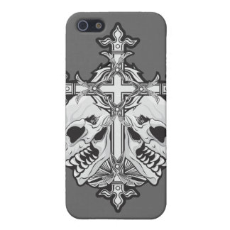 Gothic Cross with Skulls iPhone SE/5/5s Case