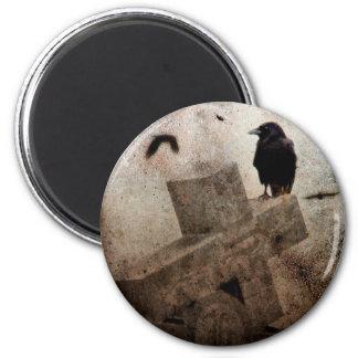 Gothic Crow 2 Inch Round Magnet