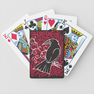 Gothic crow bicycle playing cards