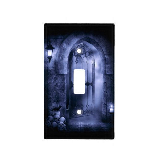 Gothic Crow Gate Light Switch Cover