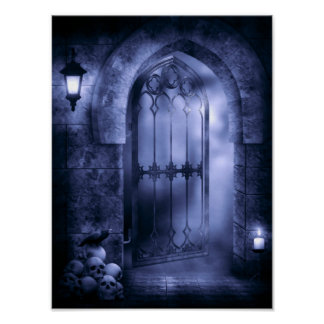 Gothic Crow Gate Poster