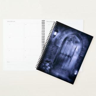 Gothic Crow Gate Spiral Planner