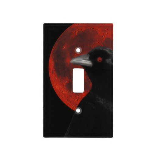 Gothic Crow Moon Light Switch Cover