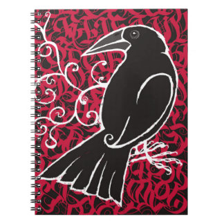 Gothic crow notebook
