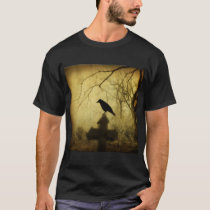 Gothic Crow On A Cross T-Shirt