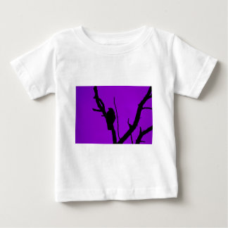 Gothic Crow on Purple Baby T-Shirt